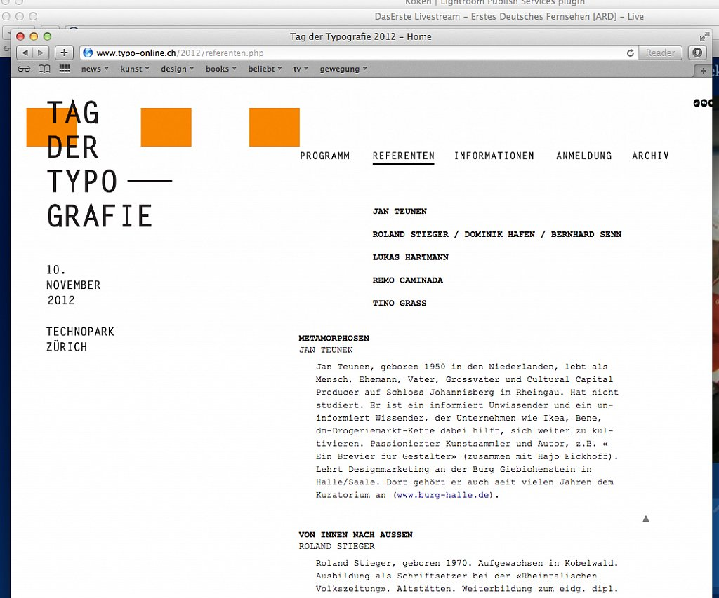 tag der typografie, zürich